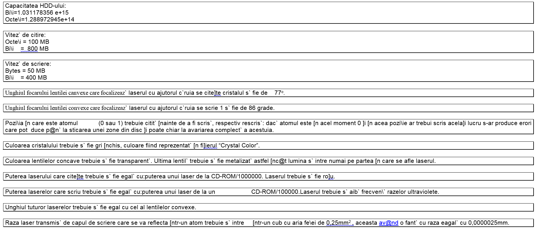 Technical specs of my imaginary Decium hard-drive (August 1997)